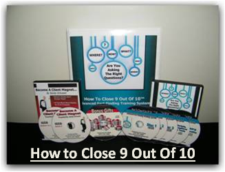 How to Close 9 Out Of 10 - Fact-Finding Training DVDS