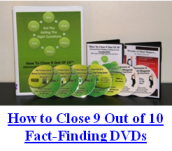 Fact-Finding DVDs... Advanced Insurance Sales Skills Training for Insurance Agents and Financial Advisers