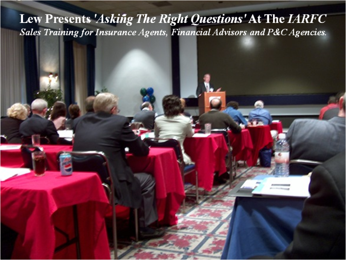 Sales Training for Financial Advisers... Lew Nason Presents 'Asking The Right Questions' At The IARFC Convention