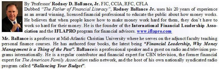 Rodney Ballance, International Financial Leadership Association