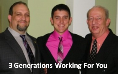 Three Generations Serving You! Jeremy Nason, Alex Villa, & Lew Nason!