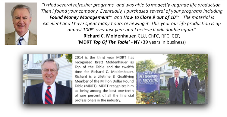 Richard Moldenhauer Endorses Insurance Pro Shop