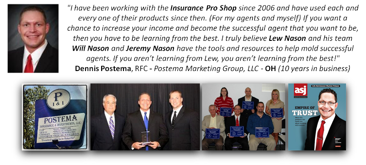 Dennis Postema Endorses Insurance Pro Shop